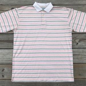 Alan Flusser Men Polo T Shirt Golf Performance